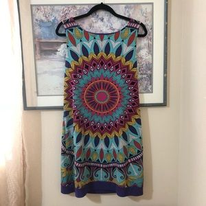 Tropical Print Nicole Miller Tank Dress